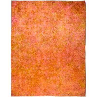 One-of-a-Kind Courter Hand Knotted Orange Area Rug