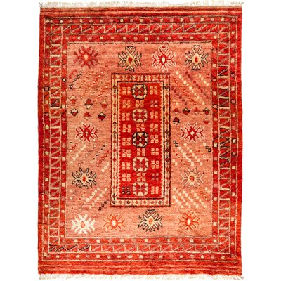 One-of-a-Kind Heiman Hand Knotted Wool Red Area Rug