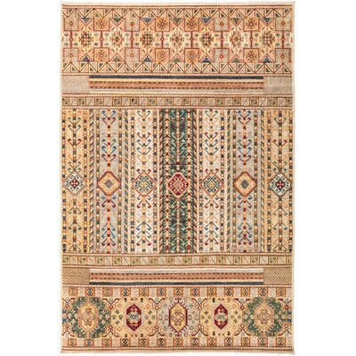 One-of-a-Kind Heinen Hand Knotted Wool Beige Area Rug
