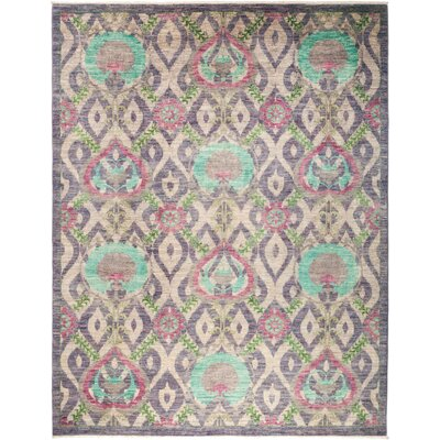 One-of-a-Kind Heilman Hand Knotted Wool Purple Area Rug