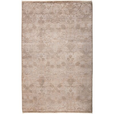 One-of-a-Kind Benjamin Hand Knotted Gray Area Rug