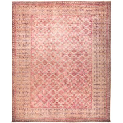 One-of-a-Kind Heimbach Hand Knotted Wool Pink Area Rug