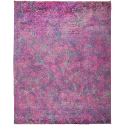 One-of-a-Kind Courter Hand Knotted Purple Area Rug