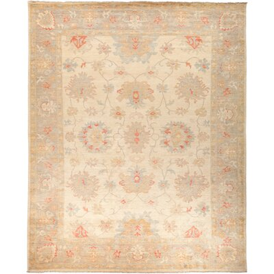 One-of-a-Kind Hein Hand Knotted Wool Beige Area Rug
