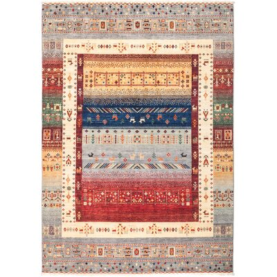 One-of-a-Kind Heinen Hand Knotted Wool Beige/Red Area Rug