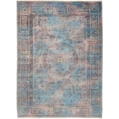 One-of-a-Kind Pritt Hand Knotted Blue Area Rug