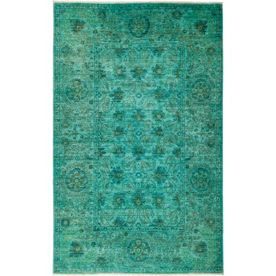 One-of-a-Kind Courter Hand Knotted Green Area Rug