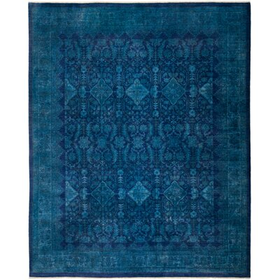 One-of-a-Kind Courter Hand Knotted Blue Area Rug
