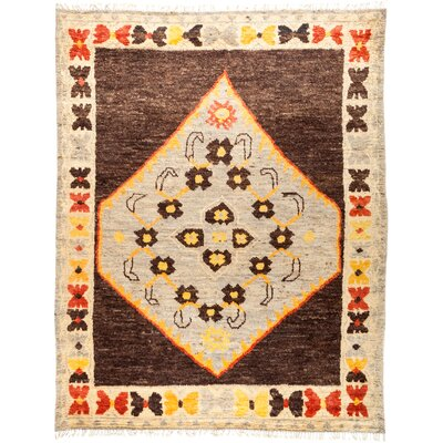 One-of-a-Kind Heiman Hand Knotted Wool Brown/Gray Area Rug