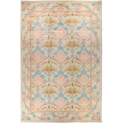 One-of-a-Kind Courts Hand Knotted Wool Pink Area Rug