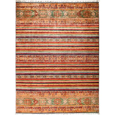 One-of-a-Kind Heinen Hand Knotted Wool Red/Beige Area Rug