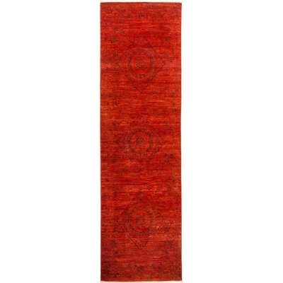 One-of-a-Kind Courter Hand Knotted Wool Red Area Rug
