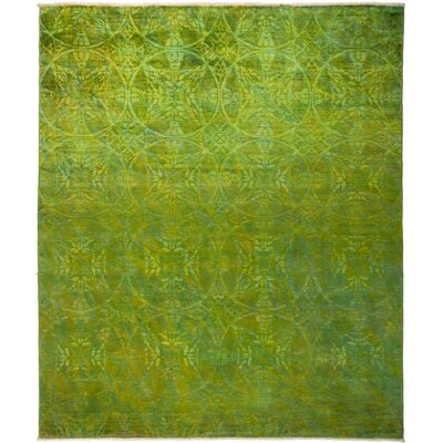 One-of-a-Kind Kingswood Hand Knotted Green Area Rug