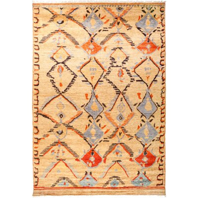 One-of-a-Kind Heiman Hand Knotted Wool Beige Area Rug
