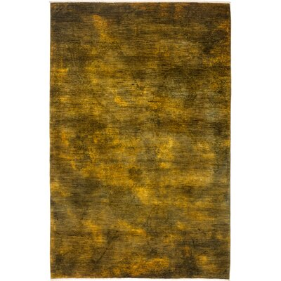 One-of-a-Kind Courter Hand Knotted Yellow Area Rug