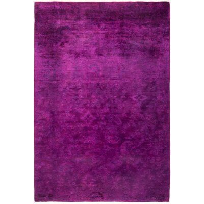 One-of-a-Kind Benjamin Hand Knotted Purple Area Rug