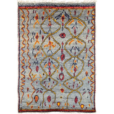 One-of-a-Kind Heiman Hand Knotted Blue Area Rug