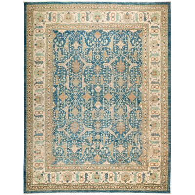 One-of-a-Kind Hein Hand Knotted Wool Blue Area Rug