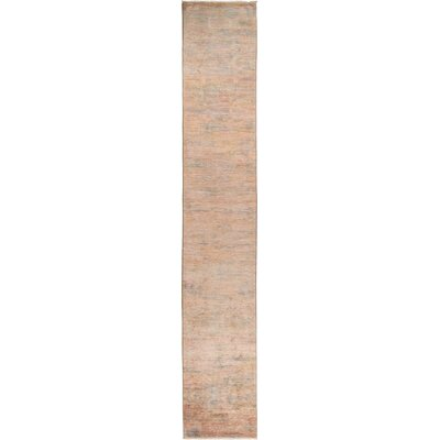 One-of-a-Kind Courter Hand Knotted Wool Pink Area Rug