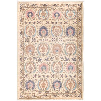 One-of-a-Kind Heilman Hand Knotted Wool Pink Area Rug