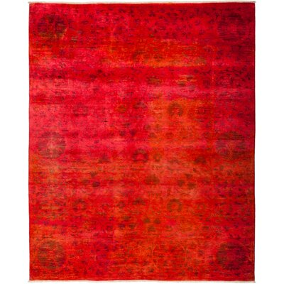 One-of-a-Kind Courter Hand Knotted Red Area Rug