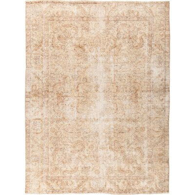 One-of-a-Kind Courtland Hand Knotted Beige Area Rug