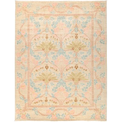 One-of-a-Kind Courts Hand Knotted Wool Beige Area Rug
