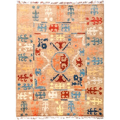 One-of-a-Kind Heiman Hand Knotted Beige Area Rug