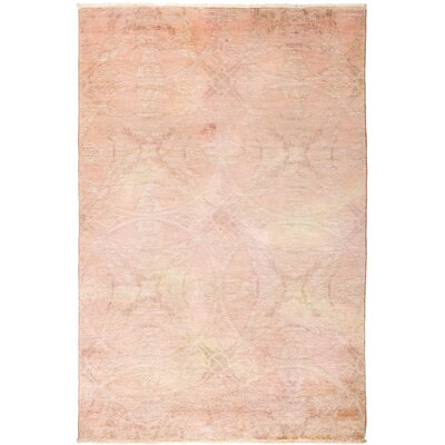 One-of-a-Kind Pritt Hand Knotted Wool Pink Area Rug