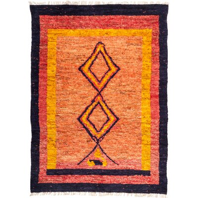 One-of-a-Kind Heiman Hand Knotted Wool Orange/Yellow Area Rug