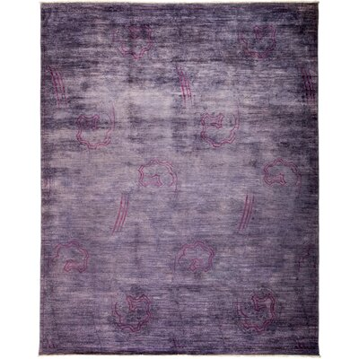 One-of-a-Kind Courter Hand Knotted Wool Purple Area Rug