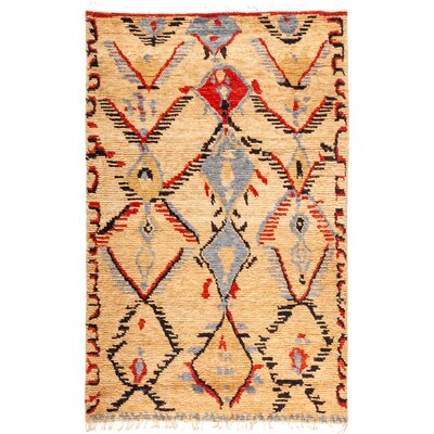 One-of-a-Kind Heiman Hand Knotted Wool Tan/Brown Area Rug