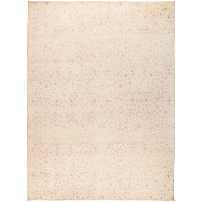 One-of-a-Kind Adkins Hand Knotted Wool Beige Area Rug