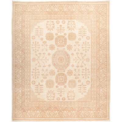 One-of-a-Kind Pritchett Hand Knotted Wool Beige Area Rug