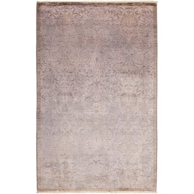 One-of-a-Kind Benjamin Hand Knotted Wool Pink Area Rug