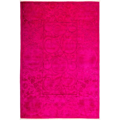 One-of-a-Kind Kingswood Hand Knotted Wool Pink Area Rug