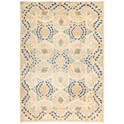One-of-a-Kind Heilman Hand Knotted Wool Beige Area Rug
