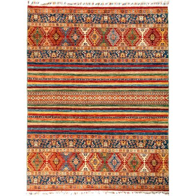 One-of-a-Kind Heinen Hand Knotted Wool Red Area Rug
