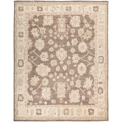 One-of-a-Kind Hein Hand Knotted Wool Brown Area Rug