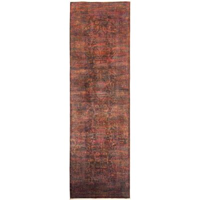 One-of-a-Kind Courter Hand Knotted Wool Brown Area Rug
