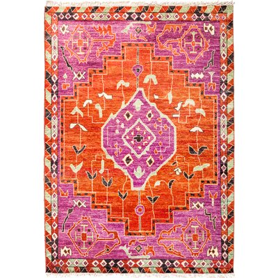 One-of-a-Kind Heiman Hand Knotted Pink/Red Area Rug
