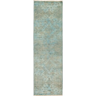 One-of-a-Kind Courter Hand Knotted Wool Blue Area Rug