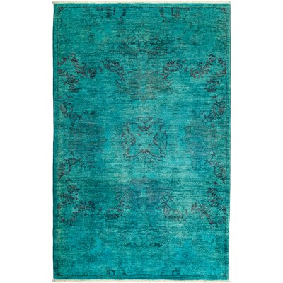 One-of-a-Kind Kingswood Hand Knotted Wool Blue Area Rug