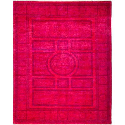 One-of-a-Kind Courter Hand Knotted Pink Area Rug