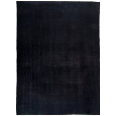 One-of-a-Kind Dunnyvadden Hand Knotted Wool Black Area Rug