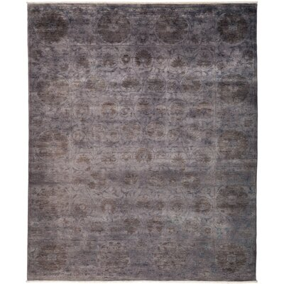 One-of-a-Kind Courter Hand Knotted Gray Area Rug