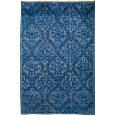 One-of-a-Kind Rutkowski Hand Knotted Wool Blue Area Rug