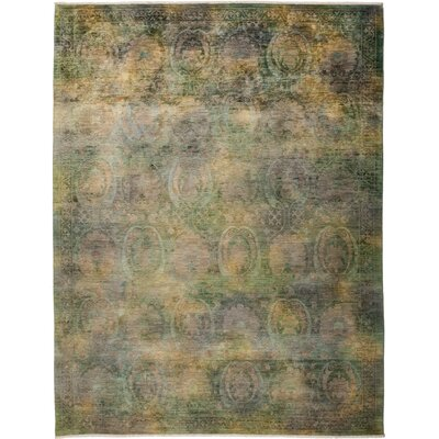 One-of-a-Kind Rupinen Hand Knotted Green Area Rug