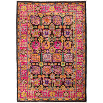 One-of-a-Kind Heim Hand Knotted Wool Pink Area Rug