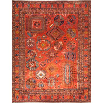One-of-a-Kind Heineman Hand Knotted Wool Red Area Rug
